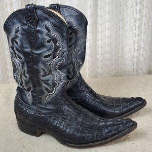 Authentic Crocodile Cowboy Boots